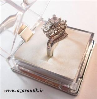 انگشتر سولیتر نقره زنانه کد 1412